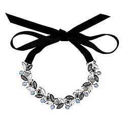 No. 1 Jenny Packham - Designer grey tonal ribbon choker necklace