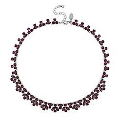 No. 1 Jenny Packham - Designer tonal purple crystal cluster necklace
