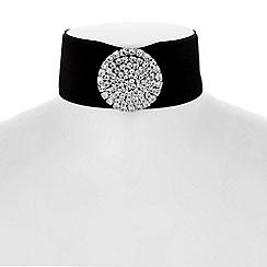 No. 1 Jenny Packham - Designer crystal starburst velvet choker
