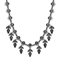 No. 1 Jenny Packham - Designer jet crystal leaf droplet choker