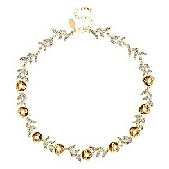 No. 1 Jenny Packham - Designer gold floral necklace