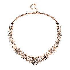 No. 1 Jenny Packham - Designer crystal flower statement necklace