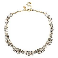 No. 1 Jenny Packham - Gold crystal floral statement necklace