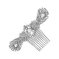 No. 1 Jenny Packham - Designer double feather hair comb