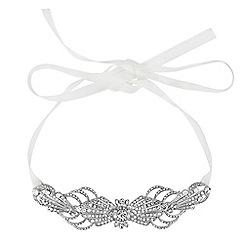 No. 1 Jenny Packham - Designer crystal deco ribbon hair halo