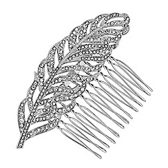 No. 1 Jenny Packham - Designer crystal feather hair comb