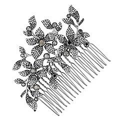 No. 1 Jenny Packham - Designer grey tonal floral hair comb