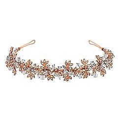 No. 1 Jenny Packham - Designer multi tone leaf cluster headband
