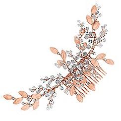 No. 1 Jenny Packham - Designer leaf cluster hair comb