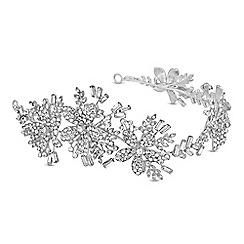 No. 1 Jenny Packham - Silver crystal winter flower statement headband