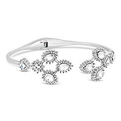 No. 1 Jenny Packham - Designer silver peardrop burst bangle