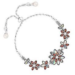No. 1 Jenny Packham - Designer floral toggle bracelet