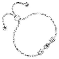 No. 1 Jenny Packham - Designer baguette crystal toggle bracelet