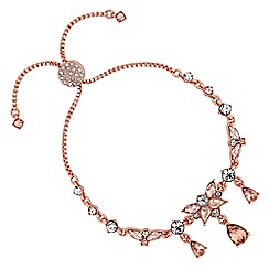 No. 1 Jenny Packham - Rose gold crystal peardrop cluster toggle bracelet