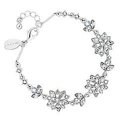 No. 1 Jenny Packham - Silver floral bracelet embellished with Swarovski crystals