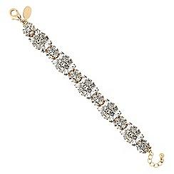 No. 1 Jenny Packham - Gold crystal cluster floral bracelet