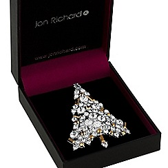 Jon Richard - Crystal Christmas tree brooch