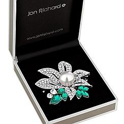 Jon Richard - Crystal pearl brooch