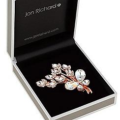 Jon Richard - Crystal butterfly flower brooch