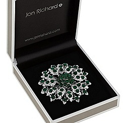 Jon Richard - Crystal flower brooch