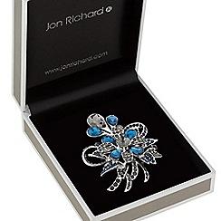Jon Richard - Crystal peardrop flower brooch