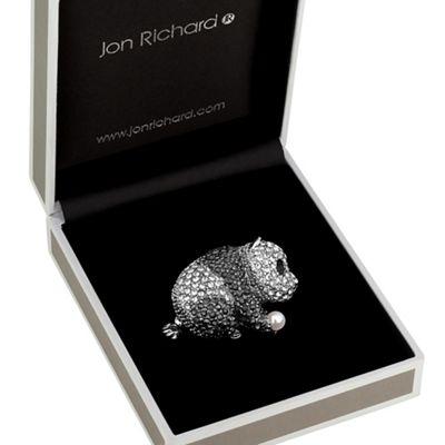 jon richard crystal panda brooch