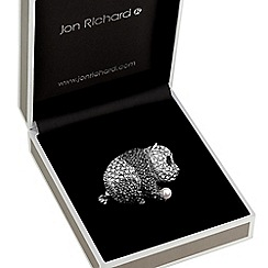 Jon Richard - Crystal panda brooch