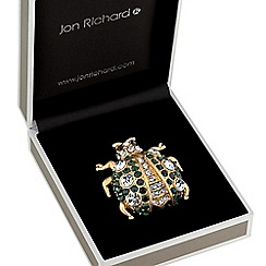 Jon Richard - Crystal bug brooch