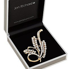 Jon Richard - Crystal sprig brooch