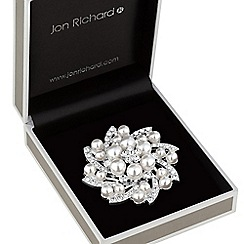 Jon Richard - Crystal wreath brooch