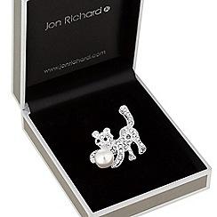 Jon Richard - Pearl kitten brooch