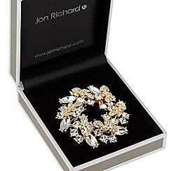 Jon Richard - Crystal wreath brooch