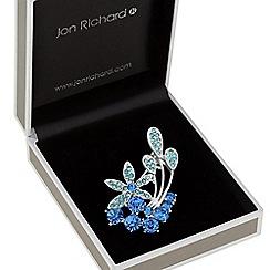 Jon Richard - Blue crystal flower brooch