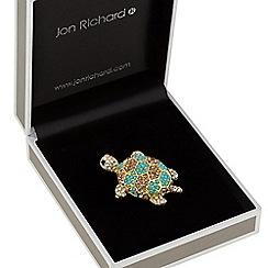 Jon Richard - Crystal turtle brooch
