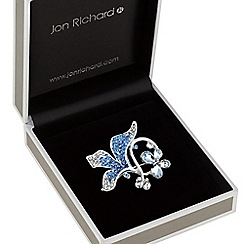 Jon Richard - Crystal floral butterfly brooch