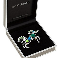 Jon Richard - Crystal horse brooch