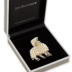 Jon Richard - Pearl lamb brooch