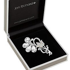 Jon Richard - Crystal tulip sprig brooch