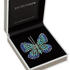 Jon Richard - Aqua crystal butterfly brooch