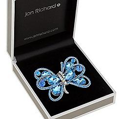 Jon Richard - Crystal ribbon brooch