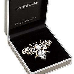 Jon Richard - Crystal bee brooch