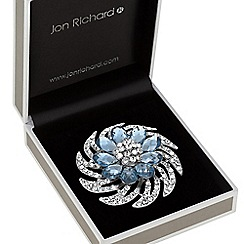 Jon Richard - Crystal spiral brooch