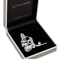 Jon Richard - Crystal peardrop leaf brooch