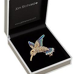 Jon Richard - Crystal hummingbird brooch