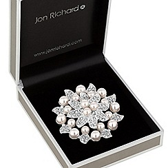 Jon Richard - Pearl leaf brooch