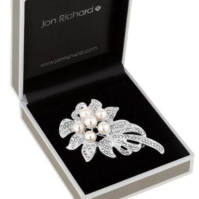 jon richard pearl corsage brooch