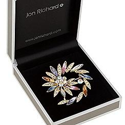 Jon Richard - Crystal swirl brooch