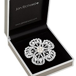 Jon Richard - Crystal open flower brooch