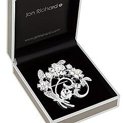 Jon Richard - Pearl flower swirl brooch