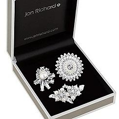 Jon Richard - Crystal and pearl brooch set